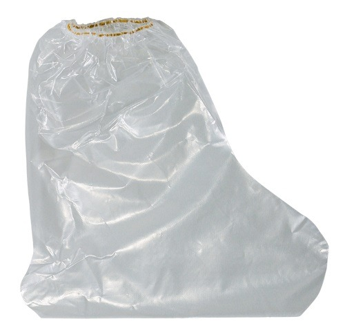 Polythene boot-covers with ruber band, 50 pcs