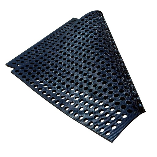 Rubber mat with round holes 165 x 110 cm