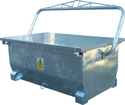 Carcass Container  with winch, 1,500 lts (optional wheels)