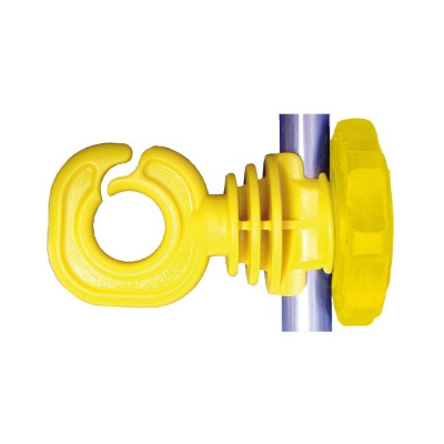 Insulator For Metal Posts Or Fiberglass Rods. For Use With Poly Wire and Poly Rope Model 6