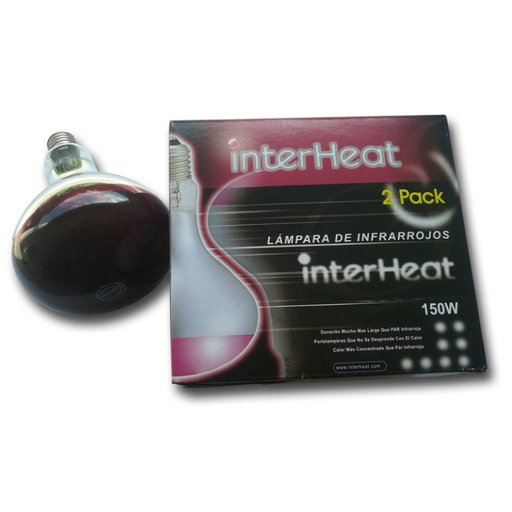 Interheat Lamp 150W Red, p/2