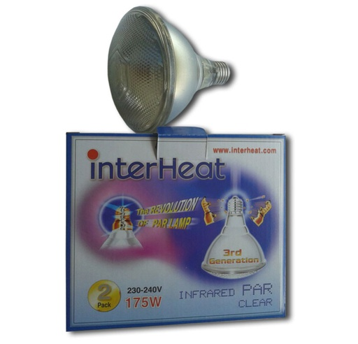 Interheat Lamp 175W White PAR, p/2