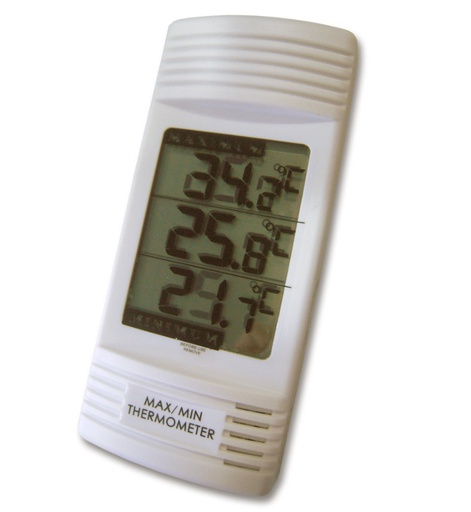 Digital max/min thermometer with internal temperature sensor