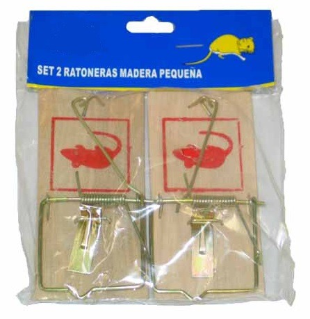 2/Pcs small wooden mouse trap