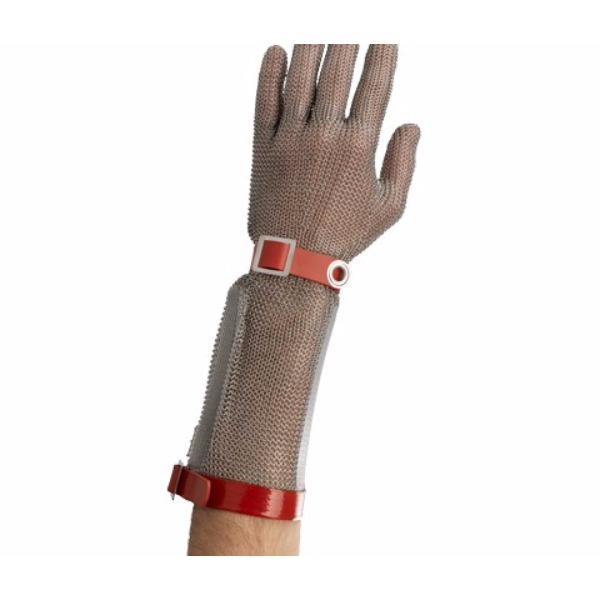Stainless steel chainmail glove with cuff 20 cm