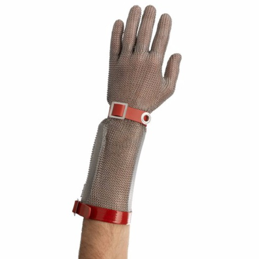 Stainless steel chainmail glove with cuff  15 cm