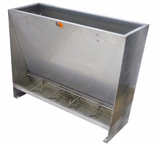 Stainless steel single feeder, 5 feeding spaces