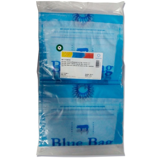 Blue Bag: Semen collection bag with filter