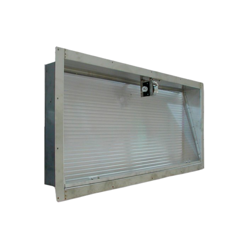 Emergency window stainless steel 100x60 cm