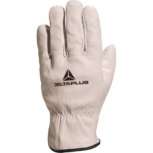 Grey cowhide leather grain glove