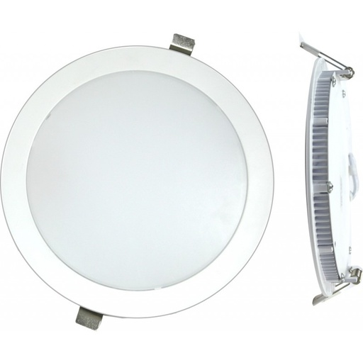 LED Downlight plat 18W 4000K Blanc à encastrer