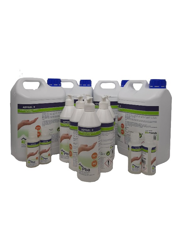 4 x 5 L Adygel Plus + 6 x 500 ml Adygel Plus + 4 x 100 ml Adygel
