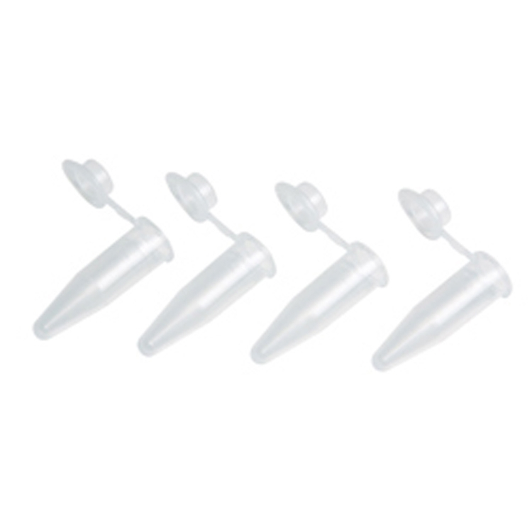 Microtubo eppendorf 2 ml con tapón, color natural transparente (500 uds.)